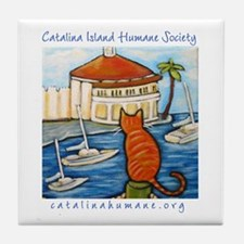 Cat at Casino Tile Coaster