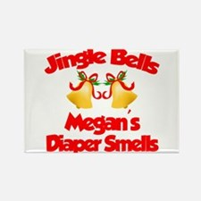 Megan - Jingle Bells Rectangle Magnet