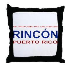 Rincon Logo Items Throw Pillow