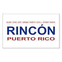 Rincon Logo Items Rectangle Decal