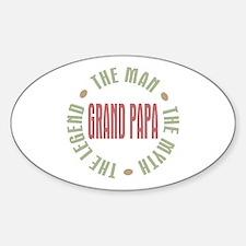 Grand Papa Man Myth Legend Oval Decal