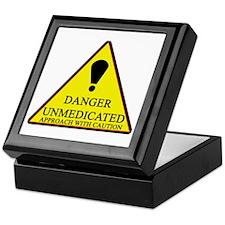 Danger Unmedicated Sign Keepsake Box