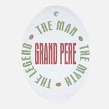 Grand Pere French Granddad Oval Ornament