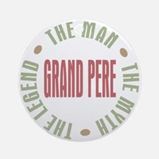 Grand Pere French Granddad Ornament (Round)