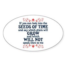 The Seeds of Time Oval Decal