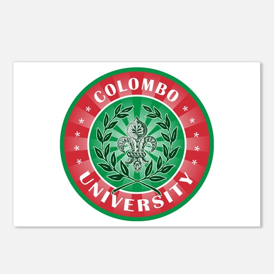 Colombo Italian Name University Postcards (Package