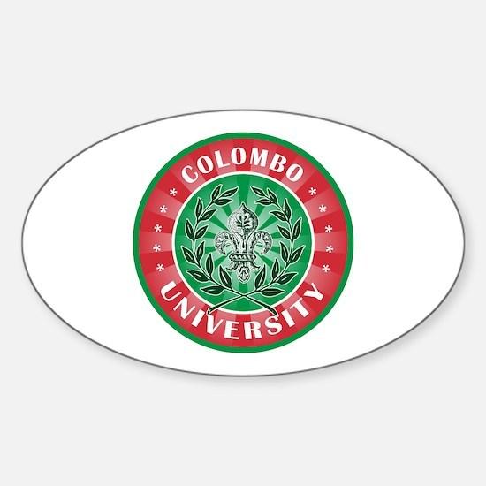 Colombo Italian Name University Oval Decal