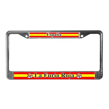 La Furia Roja License Plate Frame