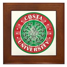 Costa Italian Name University Framed Tile