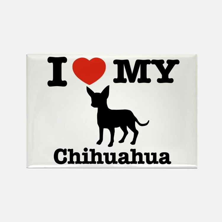 I love my Chihuahua Rectangle Magnet