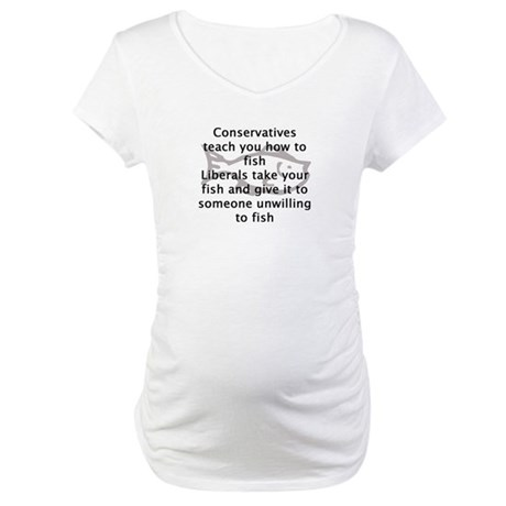 Conservatives teach you how t Maternity T-Shirt