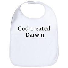 God Created Darwin Bib