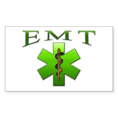 EMT(Green) Rectangle Sticker
