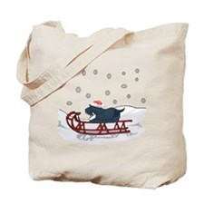 Sledding Scottie Tote Bag