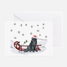 Sledding Newfoundland Greeting Card
