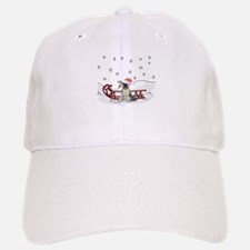 Sledding German Shepard Baseball Baseball Cap