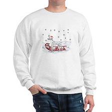 Sledding Dalmatian Sweatshirt
