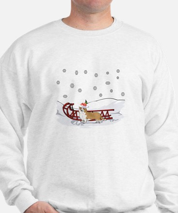 Sledding Welsh Corgi Sweatshirt