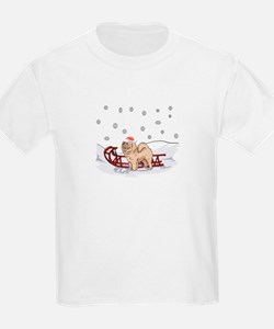 Sledding Chow Chow T-Shirt