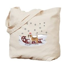 Sledding Beagle Tote Bag