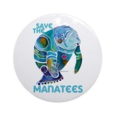 All Things SAVE the MANATEE Ornament (Round)