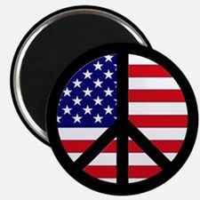 Peace Sign American Flag Magnet
