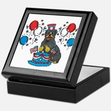 4th of July Rottweiler Keepsake Box