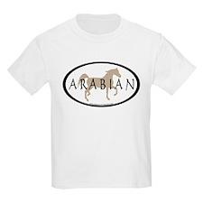 Arabian Horse Text & Oval (tan) T-Shirt