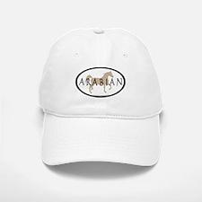 Arabian Horse Text & Oval (tan) Baseball Baseball Cap
