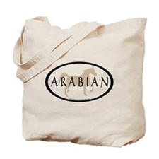 Arabian Horse Text & Oval (tan) Tote Bag