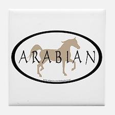 Arabian Horse Text & Oval (tan) Tile Coaster