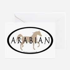 Arabian Horse Text & Oval (tan) Greeting Card