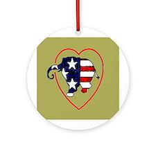 I Heart (Love) Republican Ele Ornament (Round)