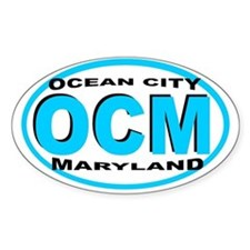Ocean City MD Oval Decal