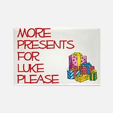 More Presents For Luke Rectangle Magnet