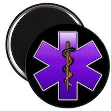 """Star of Life(Violet) 2.25"""" Magnet (10 pack)"""