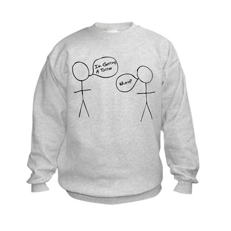 Stick Man Kids Sweatshirt