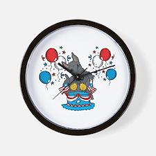 4th of July Scottie Wall Clock