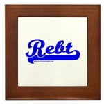 Softball REBT Blue Framed Tile