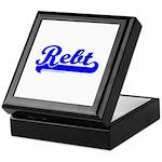 Softball REBT Blue Keepsake Box