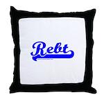 Softball REBT Blue Throw Pillow