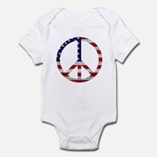 American Flag Peace Sign Infant Bodysuit