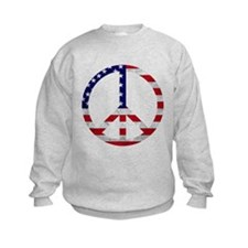 American Flag Peace Sign Sweatshirt