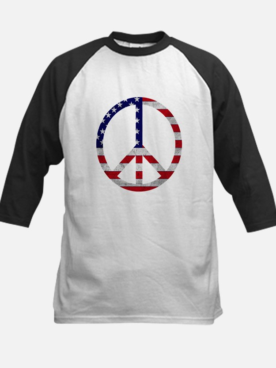 American Flag Peace Sign Tee