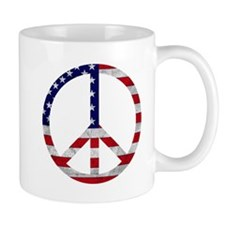 American Flag Peace Sign Mug