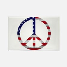 American Flag Peace Sign Rectangle Magnet