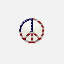 American Flag Peace Sign Mini Button (10 pack)