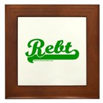 Softball REBT Green Framed Tile