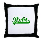 Softball REBT Green Throw Pillow