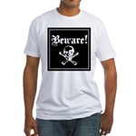 Skull and cross bones Fitted T-Shirt